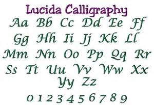 Lucida Calligraphy Embroidery Font