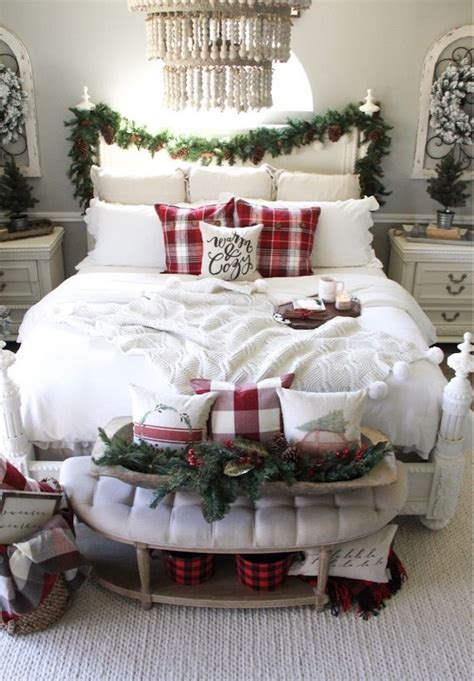 christmas bedroom decor ideas   cozy holiday bedroom
