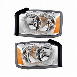 2005 Dodge Dakota Headlight Assembly Pair Parts From Car