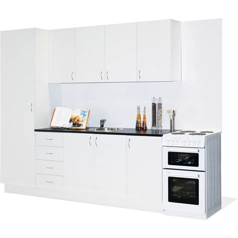 Kitchen Cabinets Ideas For Small Kitchen - marquee straight line modular kitchen bunnings warehouse