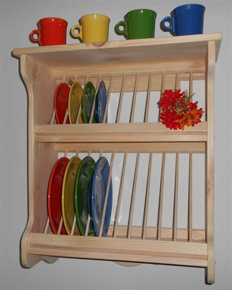 plate rack wood wooden wall mount fiestaware   shipping wooden diy wooden dish rack