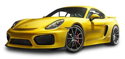 porsche png porsche cayman gt4 yellow car png image pngpix