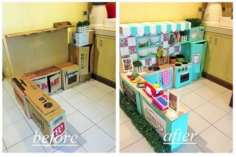 cuisine rational diy cardboard play kitchen for popsugar