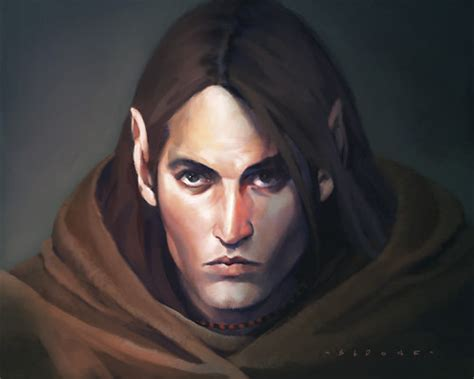 [fantasy Art] Male Half-elf By Sedone At Epilogue