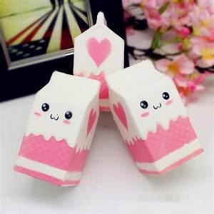 Squishy Jumbo Pink Milk Bottle Box 11cm Slow Rising Soft