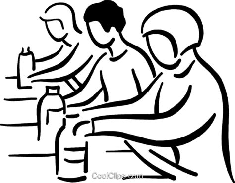 People Working On The Assembly Line Royalty Free Vector