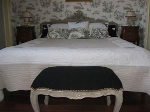 Fond De Lit : ma nouvelle chambre en tdj toile de jouy blog collectif des amoureux de la toile de jouy ~ Teatrodelosmanantiales.com Idées de Décoration