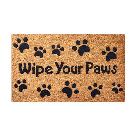 Pet Doormats by Envelor Home And Garden Wipe Your Paws Rubber Embossed
