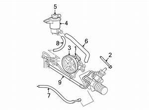 Ford Crown Victoria Power Steering Reservoir Hose  Line