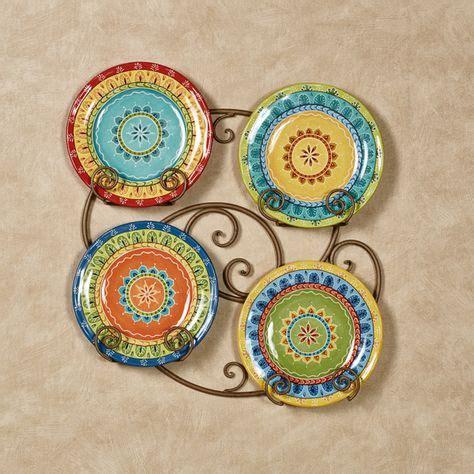 valencia colorful ceramic dessert plate set plates red wall decor plate sets