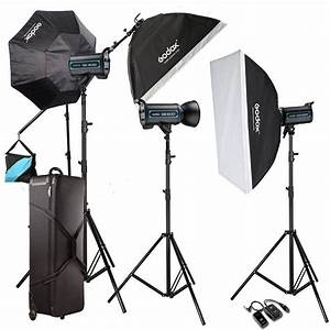 Godox 3X 600W Pro Studio Strobe Flash Light Kit For ...