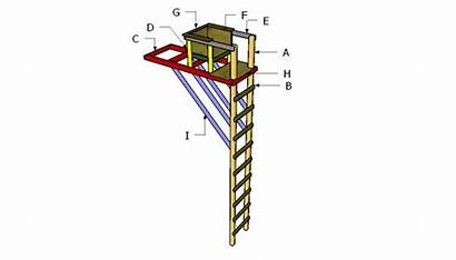 Ladder Stand Tree Building Plans Build Howtospecialist