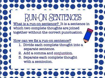 common core lf run  sentences powerpoint tpt