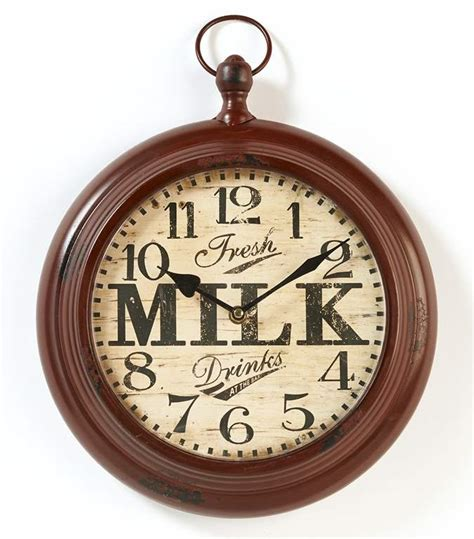 country clocks for kitchen new distressed country milk wall clock rustic faux vintage 5945