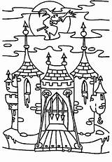 Coloring Pages Gate Haunted Template Witch Sketch sketch template
