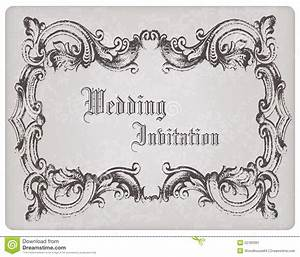 retro wedding invitation postcard with frame stock image With horizontal wedding invitation picture frame