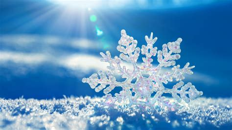 full hd wallpaper snowflake winter rays crystal desktop