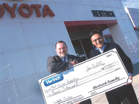 Hertrich Toyota Milford by Hertrich Toyota Donates To Ksi Cape Gazette