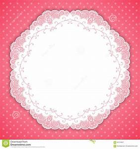 Retro Round Lace Frame Stock Vector - Image: 59154837