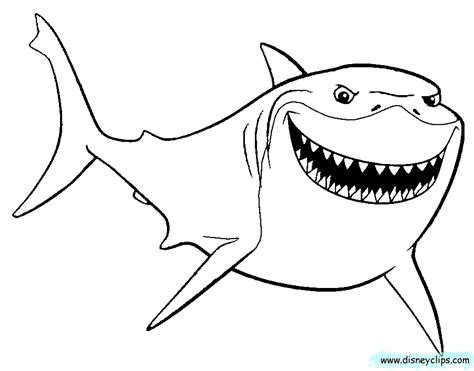 bruce  shark coloring pages az coloring pages