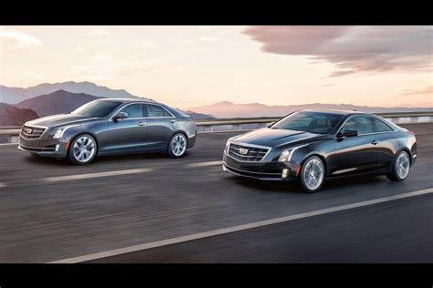 2015 Cadillac Ats Sedan & Coupe Show Off Wreathless Crest