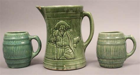 1920s Nelson Mccoy Pottery Pitcher Barrel Mug