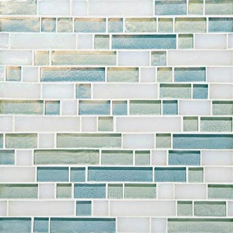 mosaic tiled bathrooms garden oasis glass tile american olean daylight sky 1377
