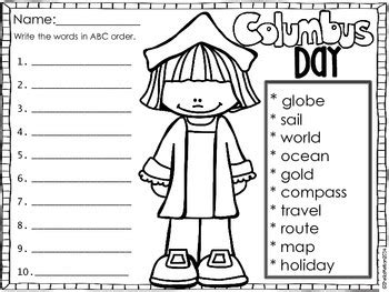 Columbus Day Free No Prep Printables By Sheila Melton Tpt