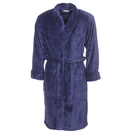 robe de chambre asiatique robe de chambre col châle mariner en polaire bleu marine