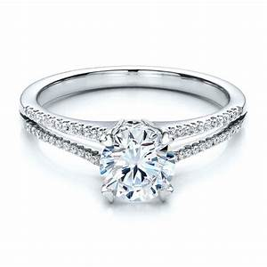 Split shank engagement ring vanna k 100090 bellevue for Split shank wedding ring