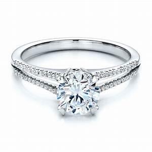 Split shank engagement ring vanna k 100090 bellevue for Split shank wedding ring