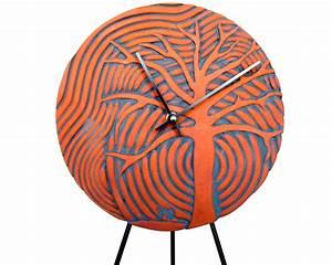 Tree Art Wall Clock, modern ceramic art clock minimalist