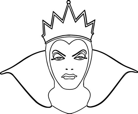 Snow White Evil Queen Witch And Huntsman Front View Face