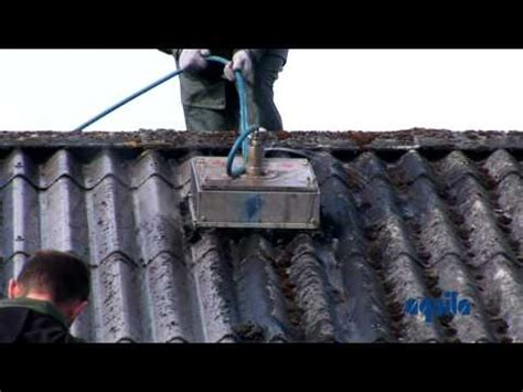 aquila triventek cleaning  asbestos roof  high