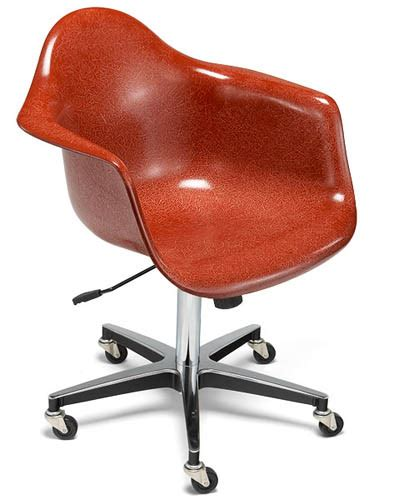 desk chair study arm shell rolling chair modernica
