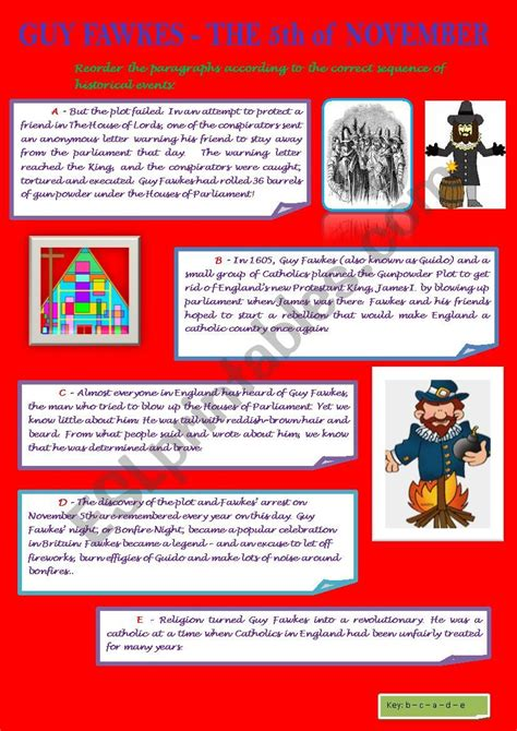 GUY FAWKES - BRIEF JUMBLED STORY (FROM BRITISH STORY ...