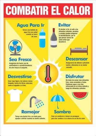 combatir el calor safety poster shop