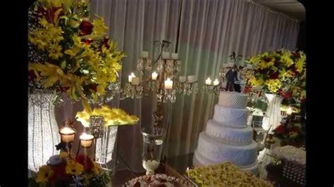 Decoração de casamento Amarelo e vermelho Claine