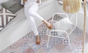 Tapis Carreaux De Ciment Saint Maclou : sol vinyle texline carreau ciment rouge rouleau 4 m maison en 2019 sol vinyle carreaux ~ Nature-et-papiers.com Idées de Décoration