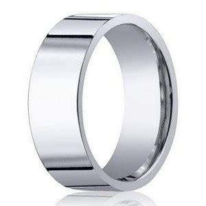 8mm designer s wedding ring in 14k white gold with flat profile justmensrings