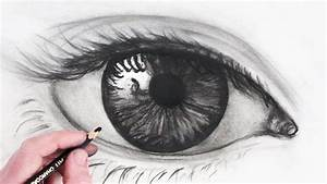 How to Draw a Realistic Eye: Narrated Sketch - YouTube