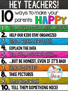 Schoolhouse Divas: 10 Ways to Make Your Parents Happy
