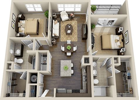 Three Bedroom Flat Layouts