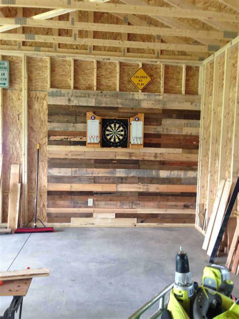 pallet wall  dartboard  pallets