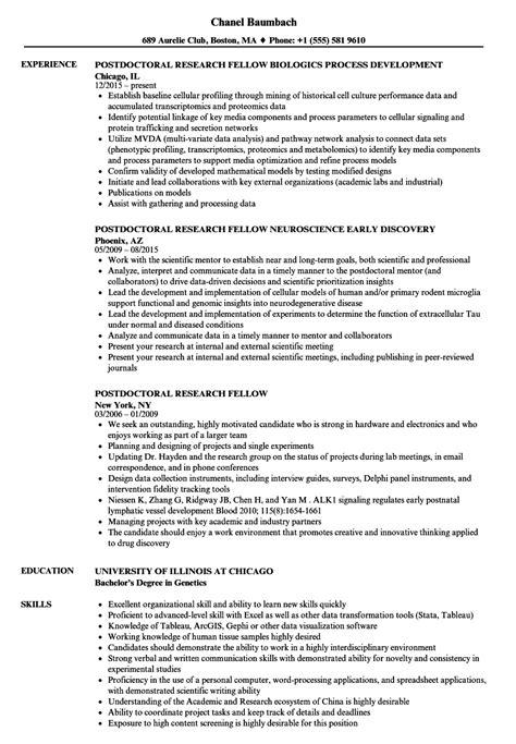 postdoc position postdoc cover letter sample