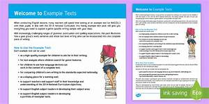 New On The Site - Example Texts And Resources