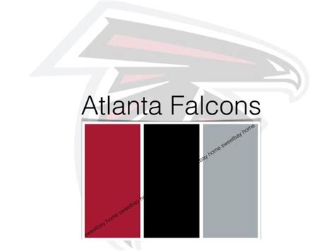 items similar to sherwin williams paint palette color card atlanta falcons etsy