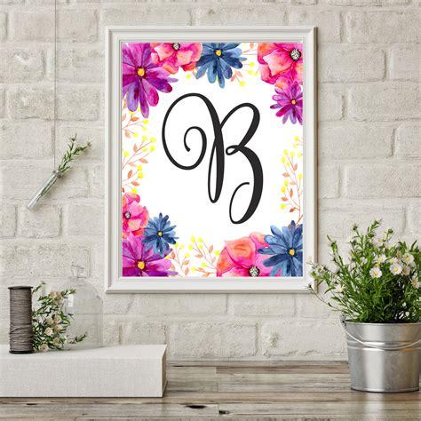 reasons   monogram wall decor  nursery printmepostercom blog