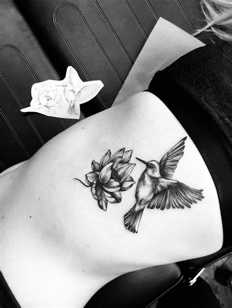 Hummingbird lotus Flower tattoo ️ | Ideas de tatuajes | Tatuajes, Flores, Belleza