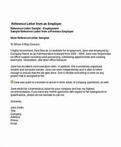 Sample Professional Reference Letter For Employment The Letter Sample